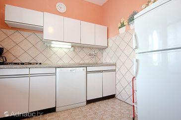 Stara Novalja, Kitchen u smještaju tipa apartment, dopusteni kucni ljubimci i WIFI.