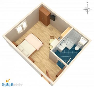 Studio flat AS-9349-b - Apartments Novalja (Pag) - 9349