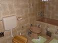 Stara Novalja, Bathroom u smještaju tipa apartment, WIFI.