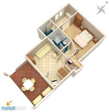 Apartment A-943-b - Apartments Duće (Omiš) - 943