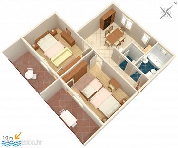 Apartment A-961-a - Apartments Brodarica (Šibenik) - 961