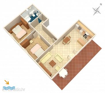 Apartment A-965-c - Apartments Grebaštica (Šibenik) - 965