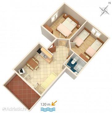 Apartment A-9678-a - Apartments Zubovići (Pag) - 9678