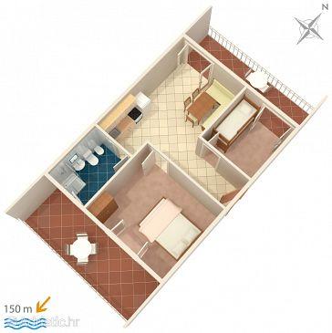 Apartment A-974-a - Apartments Seget Vranjica (Trogir) - 974