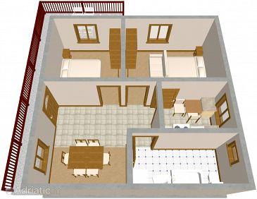 Seget Vranjica, Plan u smještaju tipa apartment, WIFI.