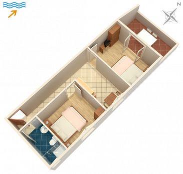 Apartament A-994-a - Kwatery Zaklopatica (Lastovo) - 994