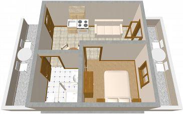 Apartament A-995-b - Apartamenty Zaklopatica (Lastovo) - 995