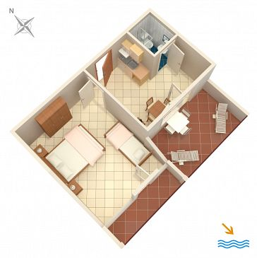 Apartment A-996-d - Apartments Pasadur (Lastovo) - 996