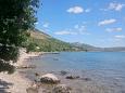 Plaža  u mjestu Seline, Paklenica.