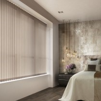 Decora 89mm Fabric Box Taupe-Chocolate Vertical Blind