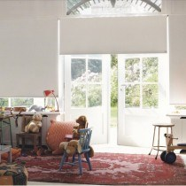 Deco 3 - Luxaflex Dim-Out White/Off White Roller Blind