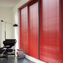 Luxaflex 25mm Red and Purple Metal Venetian Blind