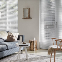 Luxaflex 50mm White and Ecru Metal Venetian Blind