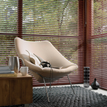 Luxaflex 25mm White and Ecru MegaView Metal Venetian Blind