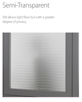 Luxaflex 20mm Semi-Transparent Plisse Blinds