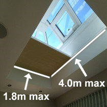 VALE Premium Manual Flat Roof/Lantern Honeycomb Blind