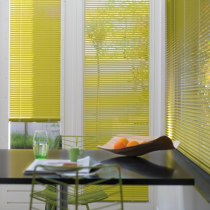 Luxaflex 50mm Yellow and Brass Metal Venetian Blind