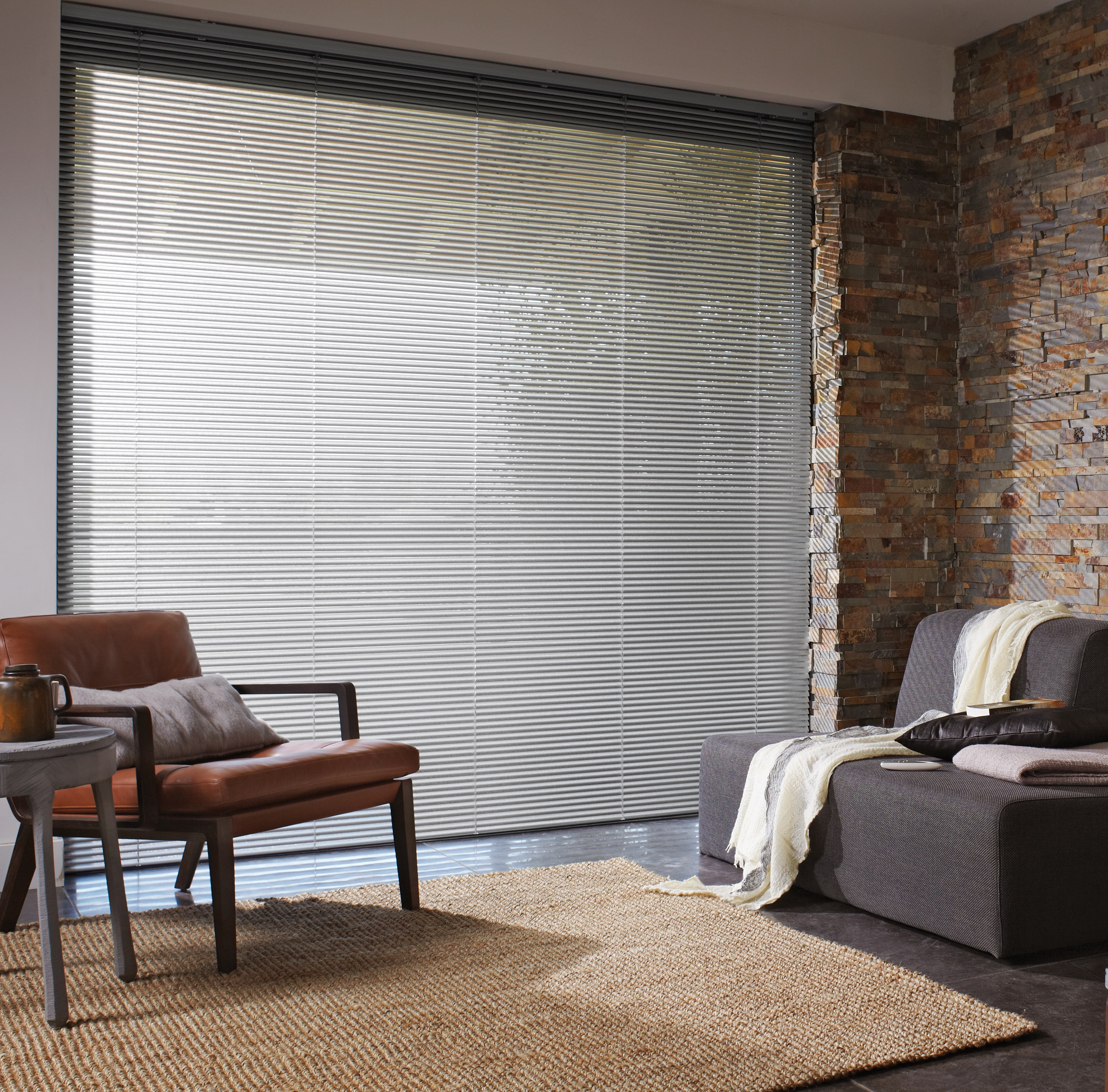 Luxaflex 50mm Grey Metal Venetian Blind