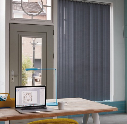 Luxaflex® Essentials Vertical Blinds Grey and Blac