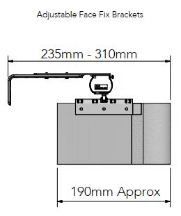 Allusion Adjustable Face Fix Brackets size
