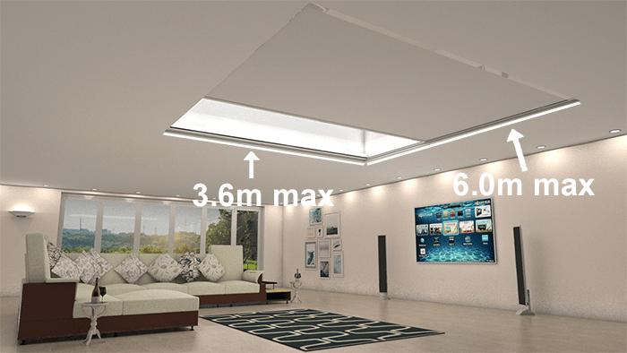 Vale roof lantern blinds