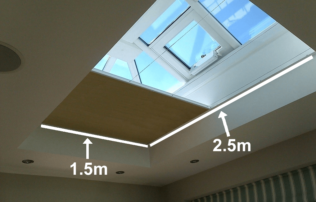 VALE Flat Roof Honeycomb Blackout Blind