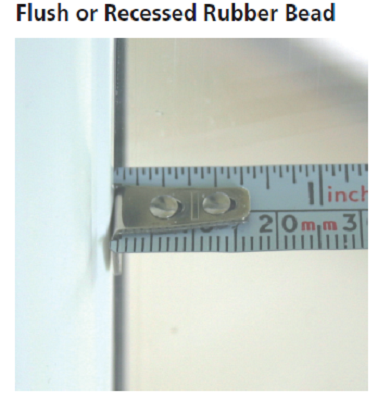 INTU Flush or Recessed Rubber Bead