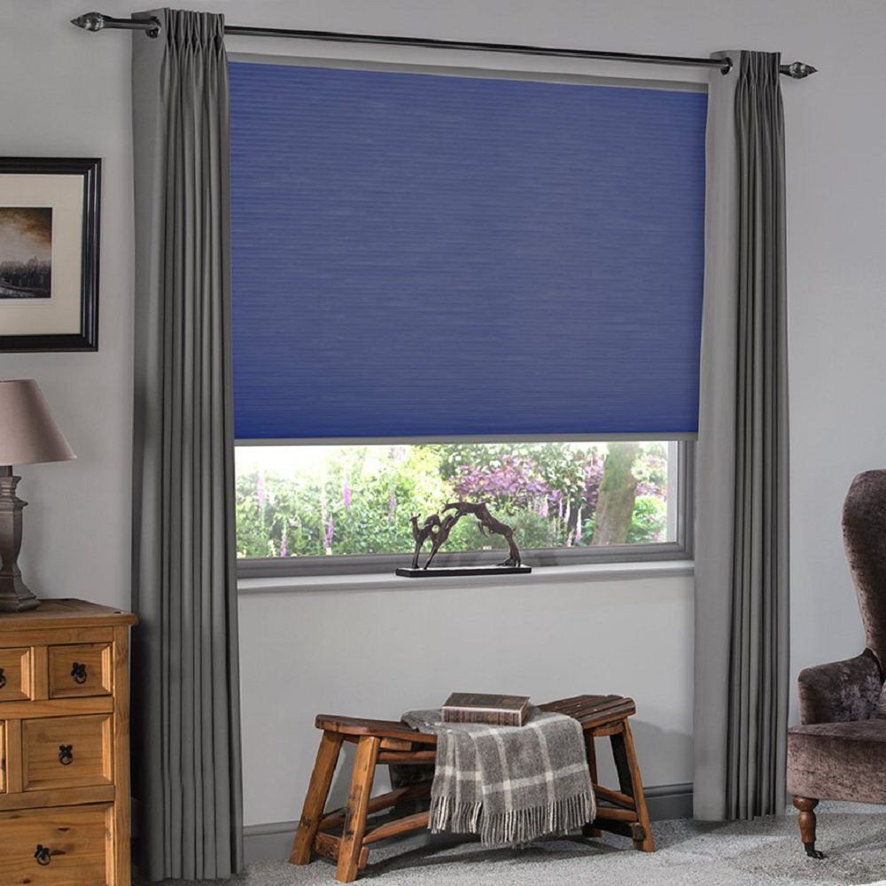 Vale Honeycomb Blue Blind Image