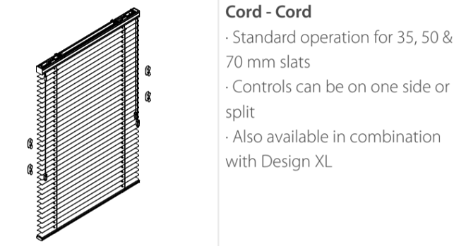 Luxaflex Metal Cord and Cord Control