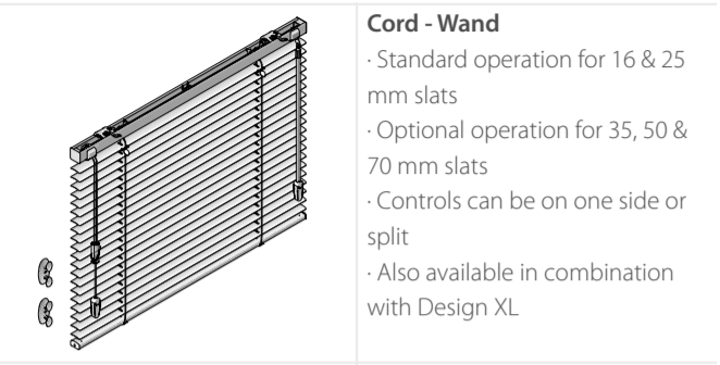 Luxaflex Metal Cord Wand control