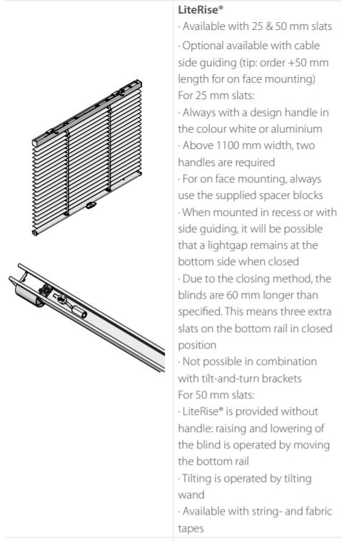 Luxaflex Metal LiteRise Control