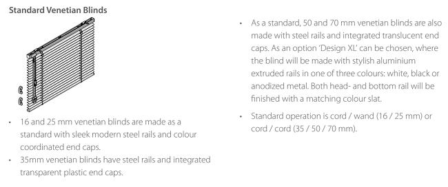 Luxaflex Metal Standard Model