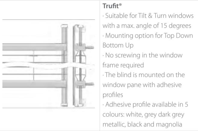 Luxaflex Metal TruFit Info