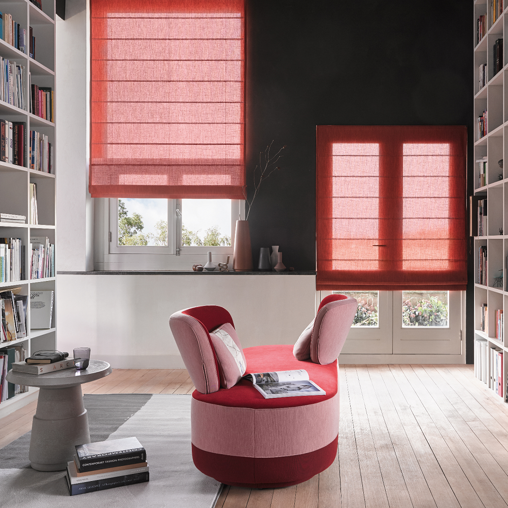 Luxaflex Red Roman Blind