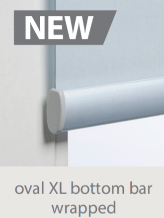 Luxaflex Roller XL Fabric Wrapped Bottom Bar