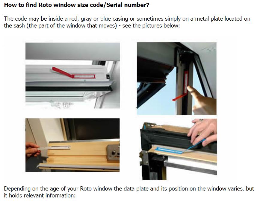 Roto Window Plate Location