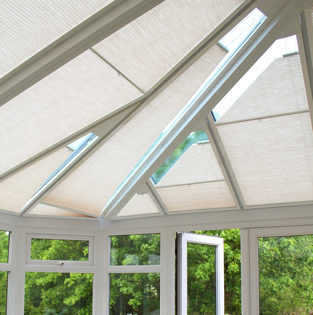 Tropical Pleated Roof Conservatory Blind
