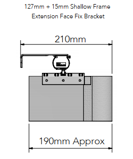 Allusion Shallow Frame Face Fix Brackets size