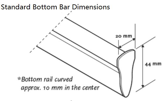 luxaflex Essential Multishade Bottom Bar standard