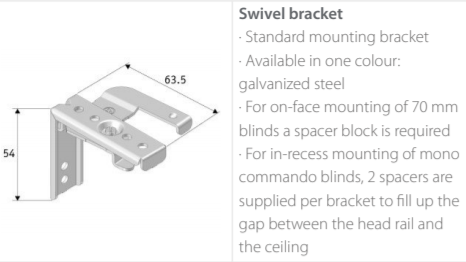 Luxaflex Wood Swivel Brackets
