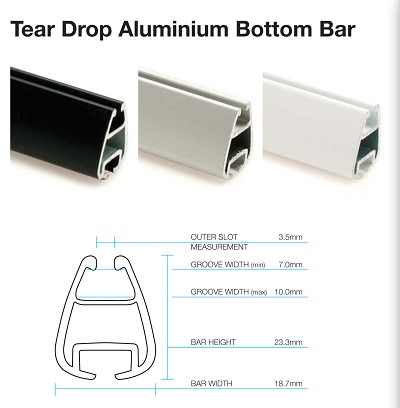 Tear Drop Bottom Bar Colours