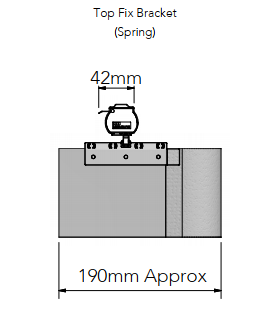 Allusion Top Fix Spring Brackets Size