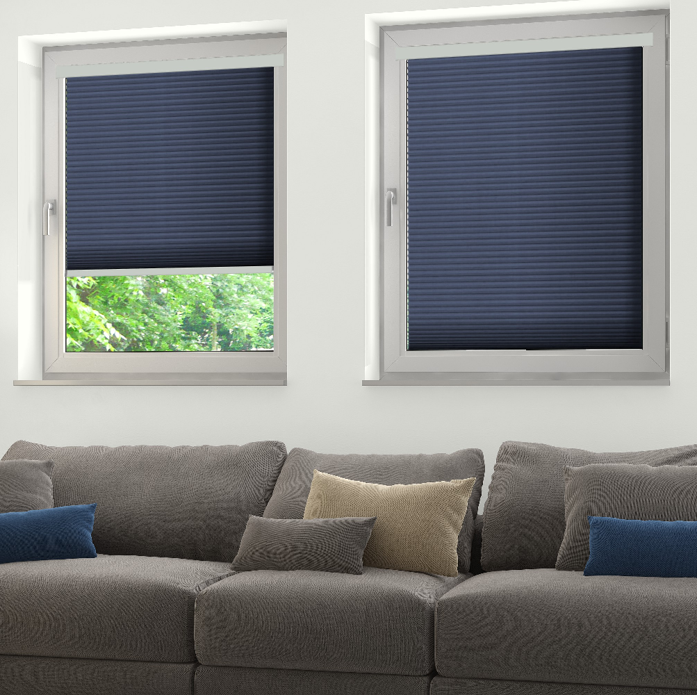 INTU Twin Blue Honeycomb Blinds
