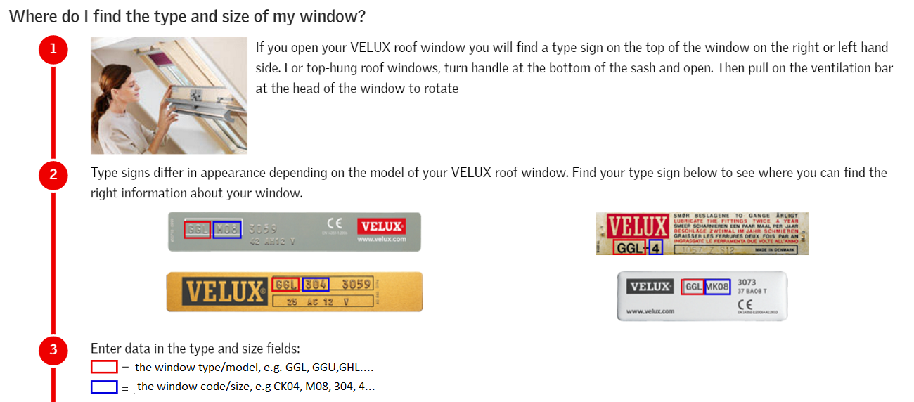 Velux Window Model and Code Location