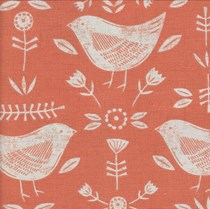 VALE Roman Blind - Creative Collection | Birdie Burnt Orange