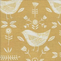 VALE Roman Blind - Creative Collection | Birdie Ochre