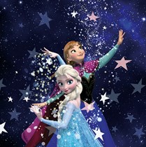 Genuine Velux (DKL) Childrens Blackout Blind | Frozen Anna and Elsa 4656