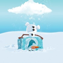 Genuine Velux (DKL) Childrens Blackout Blind | Frozen Olaf 4658