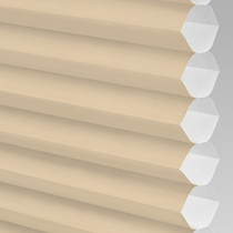 VALE Flat Roof Honeycomb Translucent Blind | PX71003-Hive Plain Barley