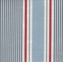 VALE Roman Blind - Creative Collection | Nautical Stripe Marine